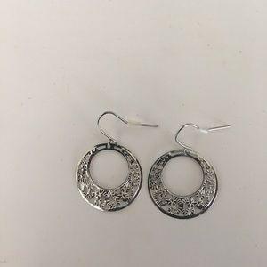 small dangle hoop earrings